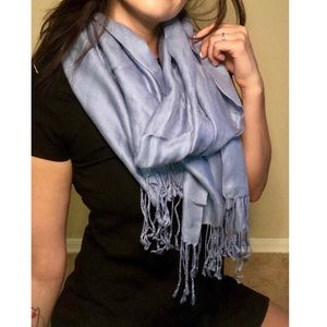 pashmire Accessories - 💥 50% off | Light blue scarf w/ tassels